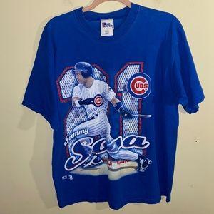 VNTG MLB CHICAGO CUBS 1998 Sammy Sosa T-shirt Sz